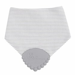 Chewbeads - Drool Bib - Grey Stripes