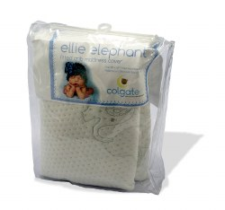 Colgate - Crib Fitted Mattress Cover -  Ellie Elephant