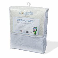 Colgate - Wee-A-Way Waterproof Fitted Crib Mattress Cover