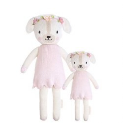 Cuddle + Kind - Hand-Knit Doll  Charlotte The Dog Little