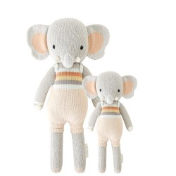 Cuddle + Kind - Hand-Knit Doll  Evan The Elephant Little
