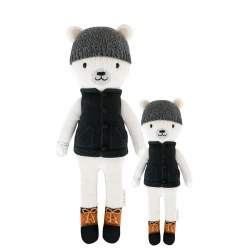 Cuddle + Kind - Hand-Knit Doll  Hudson Polar Bear Little
