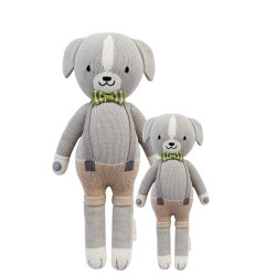 Cuddle + Kind - Hand-Knit Doll  Noah The Dog Little