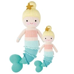 Cuddle + Kind - Hand-Knit Doll  Skye The Mermaid Little