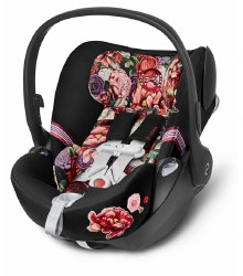 Cybex -  Cloud Q Sensor Safe Infant Car Seat - Spring Blossom Dark *Backorder until End of June 2020*