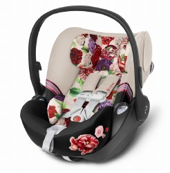 Cybex -  Cloud Q Sensor Safe Infant Car Seat - Spring Blossom Light *Backorder until End of June 2020*
