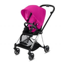 Cybex -  2019 Mios 2 Complete Stroller Chrome Black - Fancy Pink