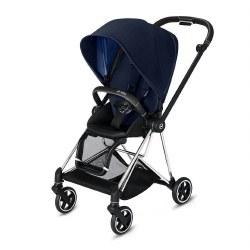 Cybex -  2019 Mios 2 Complete Stroller Chrome Black - Indigo Blue