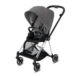 Cybex -  2019 Mios 2 Complete Stroller Chrome Black - Manhattan Grey