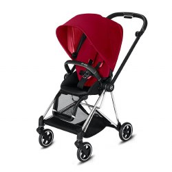 Cybex -  2019 Mios 2 Complete Stroller Chrome Black - True Red