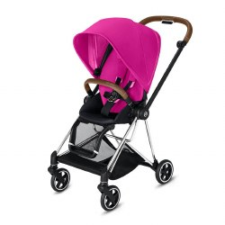 Cybex -  2019 Mios 2 Complete Stroller Chrome Brown - Fancy Pink