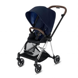 Cybex -  2019 Mios 2 Complete Stroller Chrome Brown - Indigo Blue