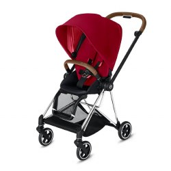 Cybex -  2019 Mios 2 Complete Stroller Chrome Brown - True Red