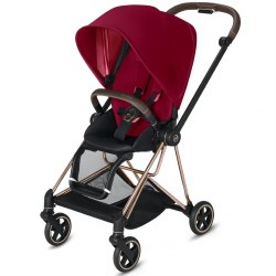 Cybex -  2019 Mios 2 Complete Stroller Rose Gold - True Red