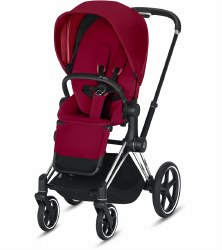 Cybex -  2019/2020 Priam 3 Complete Stroller Chrome Black - True Red