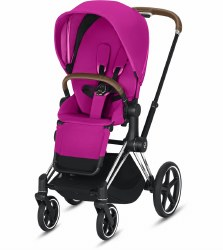 Cybex -  2019 Priam 3 Complete Stroller Chrome Brown - Fancy Pink