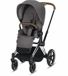 Cybex -  2019/2020 Priam 3 Complete Stroller Chrome Brown - Manhattan Grey