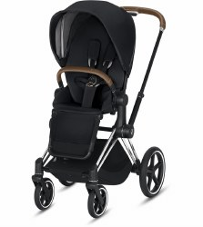 Cybex -  2019/2020 Priam 3 Complete Stroller Chrome Brown - Premium Black