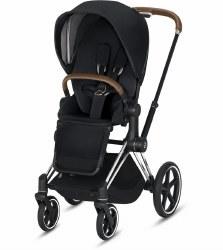 Cybex -  2019 Priam 3 Complete Stroller Chrome Brown - Premium Black
