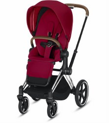 Cybex -  2019/2020 Priam 3 Complete Stroller Chrome Brown - True Red