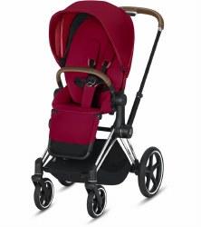 Cybex -  2019 Priam 3 Complete Stroller Chrome Brown - True Red