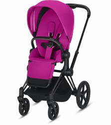 Cybex -  2019/2020 Priam 3 Complete Stroller Matte Black - Fancy Pink