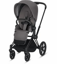 Cybex -  2019/2020 Priam 3 Complete Stroller Matte Black - Manhattan Grey