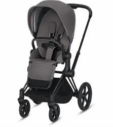 Cybex -  2019 Priam 3 Complete Stroller Matte Black - Manhattan Grey