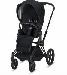 Cybex -  2019 Priam 3 Complete Stroller Matte Black - Premium Black