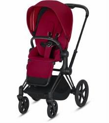 Cybex -  2019 Priam 3 Complete Stroller Matte Black - True Red