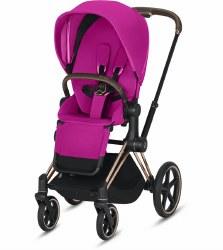 Cybex -  2019 Priam 3 Complete Stroller Rose Gold - Fancy Pink
