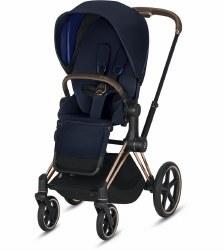 Cybex -  2019 Priam 3 Complete Stroller Rose Gold - Indigo Blue