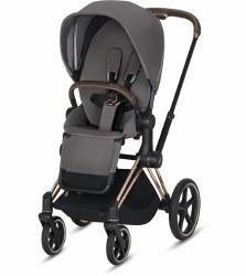 Cybex -  2019 Priam 3 Complete Stroller Rose Gold - Manhattan Grey
