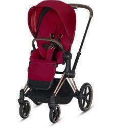 Cybex -  2019 Priam 3 Complete Stroller Rose Gold - True Red