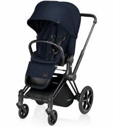 Cybex -  Priam Lux Trekking Stroller - Black Matte - Mignight Blue
