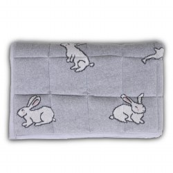N L - Knitted Playmat - Bunny Grey Natural