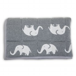 N L - Knitted Playmat - Elephant Grey Comb