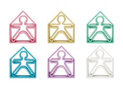 Dena Toys - Silicone Kids & Houses 6 Pack Pastel