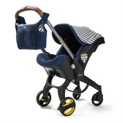 Doona - Infant Car Seat/Stroller Limited Edition - Navy Blue Stripped