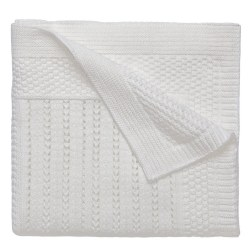 Elegant baby -  Knit Blanket - Cream Seed