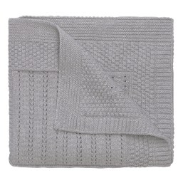 Elegant baby -  Knit Blanket - Gray Seed