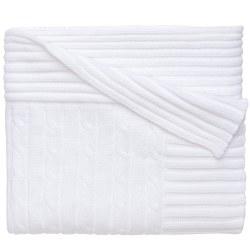 Elegant baby -  Knit Blanket - White