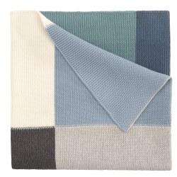 Elegant Baby -  Patchwork Blanket - Blue