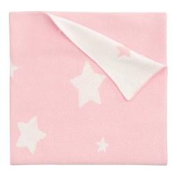 Elegant Baby -  Pattern Blanket - Pink Star