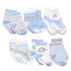 Elegant Baby -  6-Pack Socks - Cutie Blue Boy