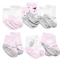 Elegant Baby -  6-Pack Socks - Cutie Pink Girl