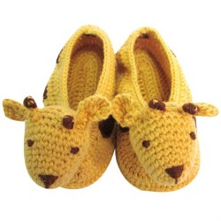 Albetta - Crochete Booties - Giraffe