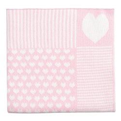 Elegant Baby -  Pattern Blanket - Pink Heart