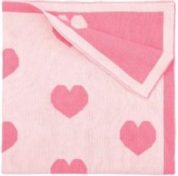 Elegant Baby - Pattern Blanket - Heart Pink