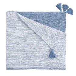 Elegant Baby -  Knit Blanket - Ombre Indigo